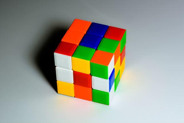Strategiudvikling afbilledet ved rubixterning. Vores format til en samlet strategi.